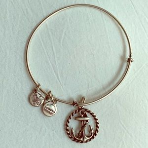 Silver Alex and Ani anchor bracelet